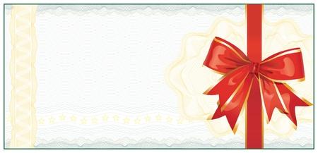 Modèle de certificat-cadeau de Golden ou Coupon rabais
