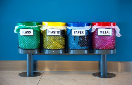 Colorful Recycle Bins in a Public place Stock Photo - 12431824