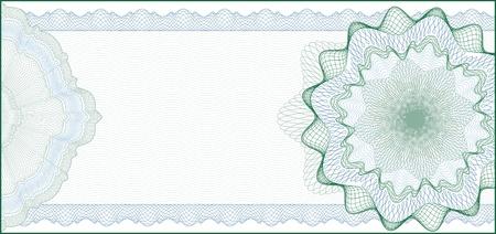 Elegante Guillochenuntergrunddruck für Geschenkgutschein, Gutschein oder Geldschein-Elemente sind in Schichten für die einfache Bearbeitung