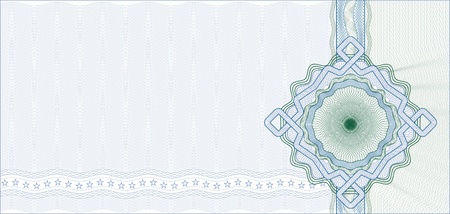 Secured Guilloche Background for Gift Certificate, Voucher or Banknote  elements are in layers for easy editing Illustration