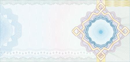 Gesicherte Guillochenuntergrunddruck für Gutschein, Geschenkgutschein, Gutschein oder Geldschein / Schichten werden für die einfache Bearbeitung einbezogen