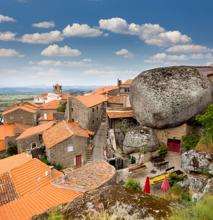 Monsanto village view  with the bell tower   Portugal  Europe Banco de Imagens