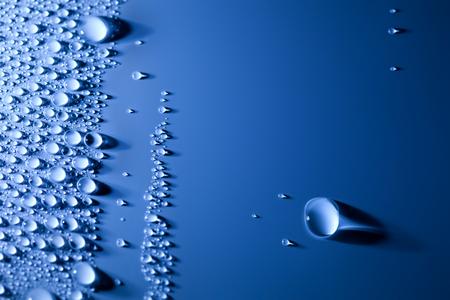 Abstract water druppels achtergrond met mooie Grote Drop focus op de grote daling Stockfoto