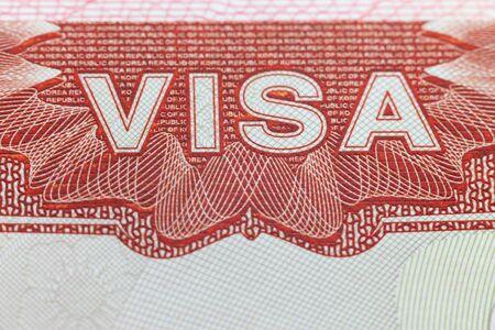 パスポートのページ - 外国人のビザを楽しむ旅行の背景 写真素材