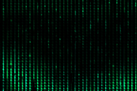 Abstract green matrix theme as background