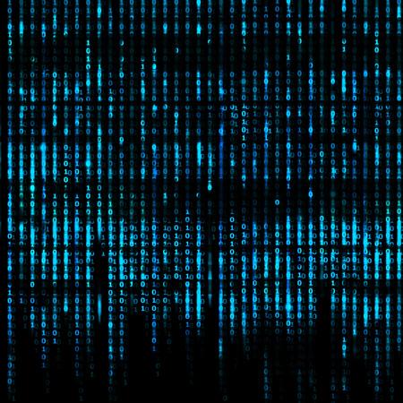 Matrix Abstract - binary code screen background Archivio Fotografico