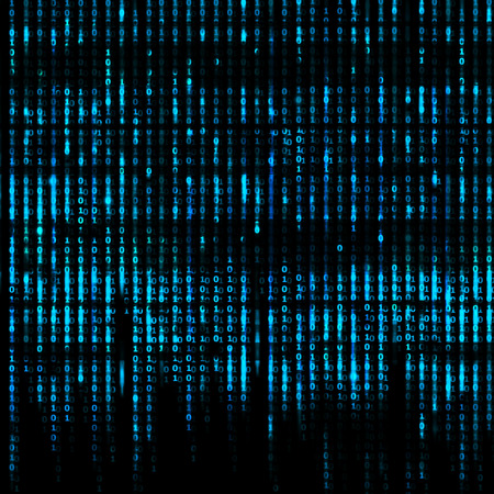 Matrix Samenvatting - binaire code achtergrond van het scherm Stockfoto