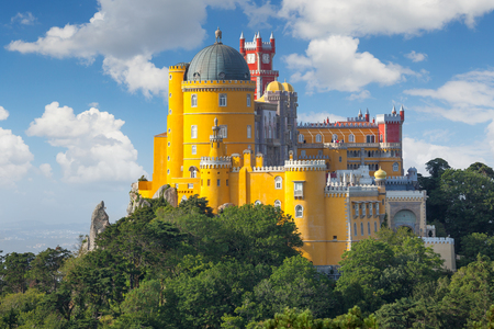 Fantastisch Nacional Paleis van Pena - Sintra, Lissabon, Portugal, Europa Redactioneel