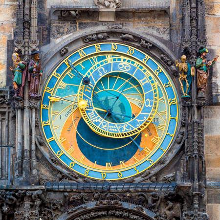 Prag astronomische Uhr (Orloj) in der Altstädter Ring in Prag, Tschechische Republik, Europa. Berühmte Sehenswürdigkeiten in Praha