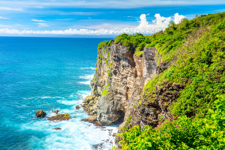 Landscape of Ocean and Rocks, paradise and beautiful place, Bali, Indonesia, Big size