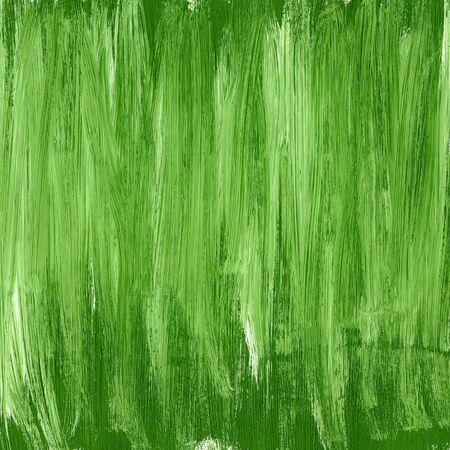 Green hand painted acrylic background, square shape Foto de archivo