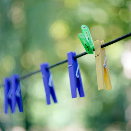 Laundry pins Stock Photo - 9062496