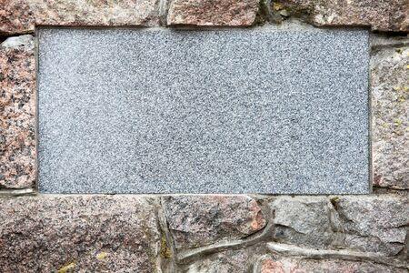 Stone plate photo
