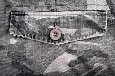 back pocket: Close up of military  trousers back pocket