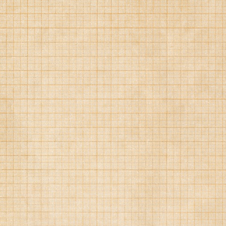 millimetre: Old sepia graph paper square grid background Stock Photo