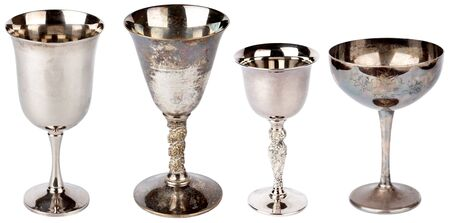 Set of  vintage silver plated goblets  photo