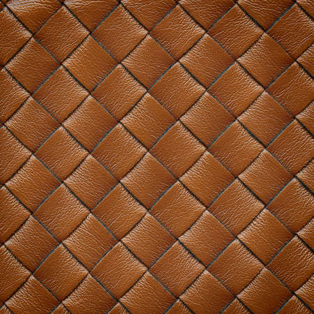Brown leather woven texture background Stock Photo