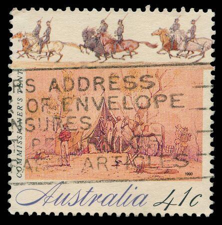 commissioner: AUSTRALIA - CIRCA 1990: A stamp printed in Australia shows commissioner