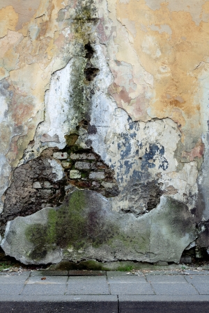 Old rotting grungy wall background