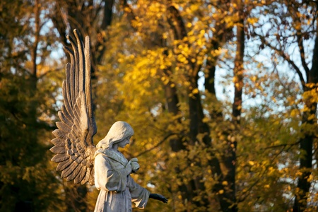 Angel at Bernardinai cemetary in Vilnius Lithuania photo