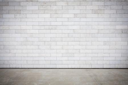 muro: Parete piastrellata con mattoni bianca vuota Archivio Fotografico