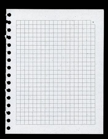 Page from notebook, paper made from recycled materials photo