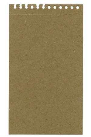 Recycled paper sheet isolated on white Stock Photo - 11914577