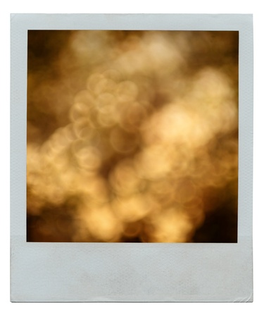 Instant film frame with abstract golden background Stock Photo - 11976158