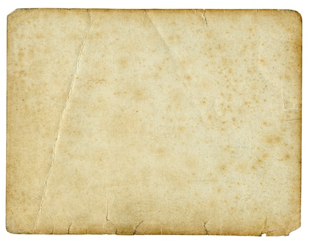 Old torn paper isolated on a white background.  photo