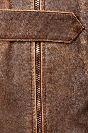 Closeup of a leather texture with a belt and zipper Stock Photo - 12177868