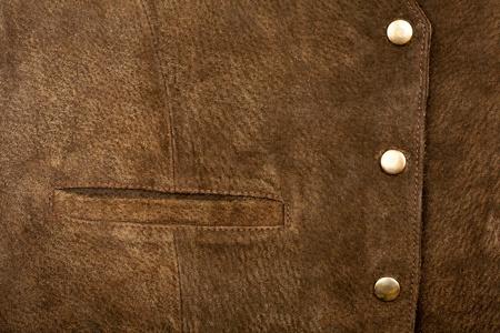 Suede vest fragment with side pocket