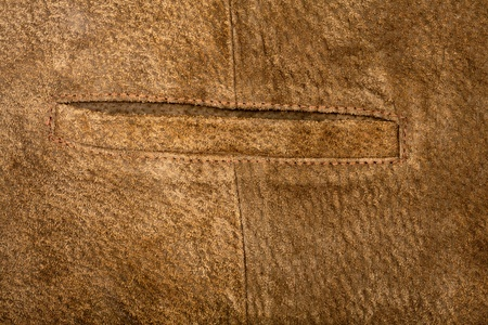 Suede vest fragment with side pocket photo