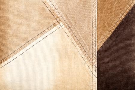 corduroy: Abstract background cucito di velluto a coste marrone