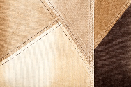 corduroy: Abstract sewed brown corduroy background