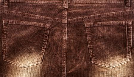 corduroy: Corduroy background with back pockets