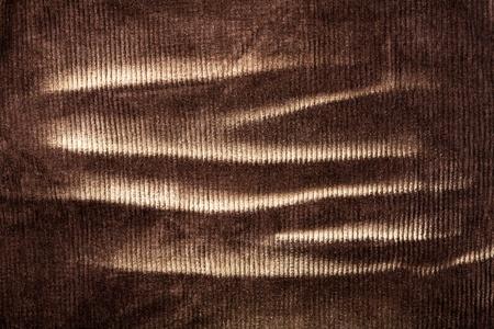 corduroy: Estratto sfondo marrone di velluto consunto Archivio Fotografico