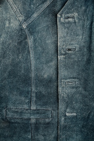 Old worn suede vest fragment with side pocket  Stock Photo - 12509913