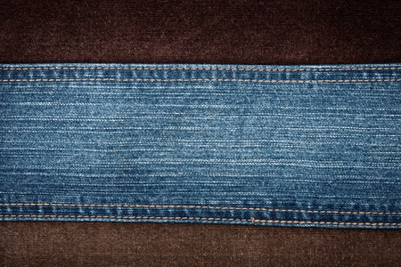 Jeans and corduroy textures with a stitch   Foto de archivo