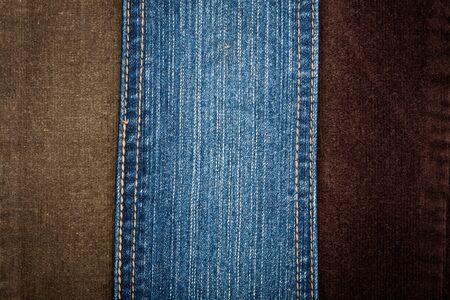 corduroy: Jeans e texture di velluto a coste con un punto