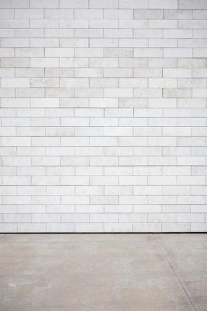 graffiti brown: Pared de azulejos con un ladrillo blanco en blanco Foto de archivo