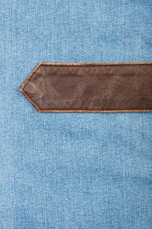 Jeans and leather textures background photo
