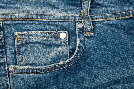 Blue jeans fabric with pocket background Stock Photo - 13197439