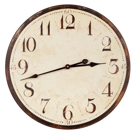 orologi antichi: Vecchio orologio antico muro isolato su bianco