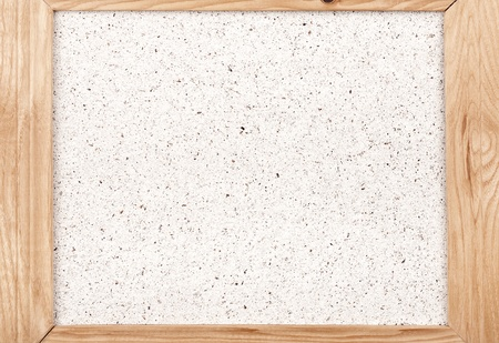 Handmade paper in wooden frame Foto de archivo