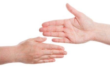 Female hands isolated on white background  Stock Photo - 13830125
