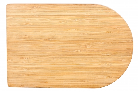 Wooden chopping board isolated on white  photo