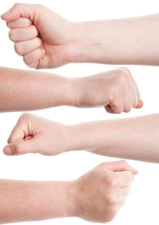 Female fist isolated on white background Stock Photo - 13984080