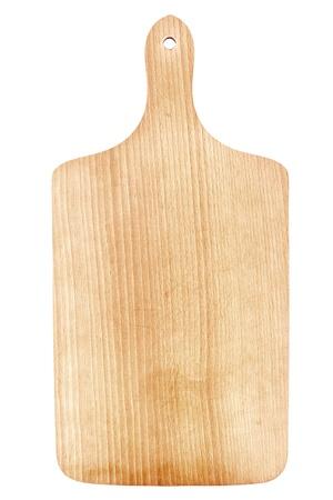Houten snijplank geïsoleerd op wit Stockfoto