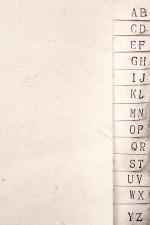 Closeup shot of a vintage handmade paper phone book