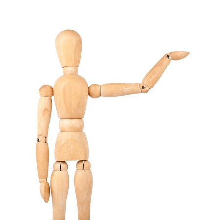 Wooden dummy isolated on a white background Imagens - 15277102